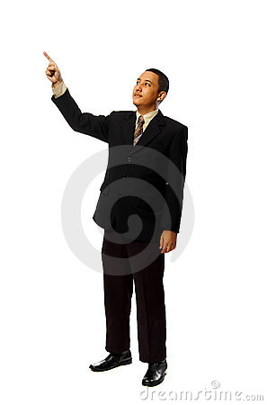 Business Man Pointing Something