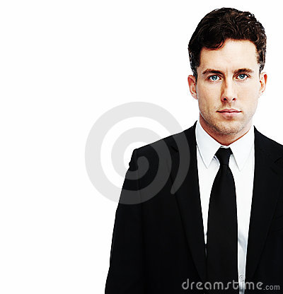Business man portrait in white background