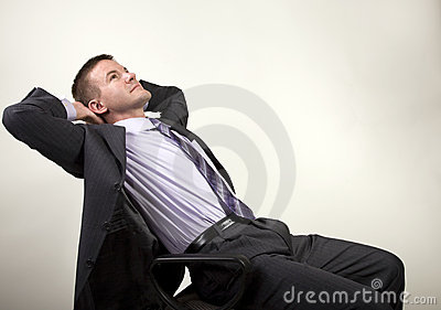 Business Man Reclining