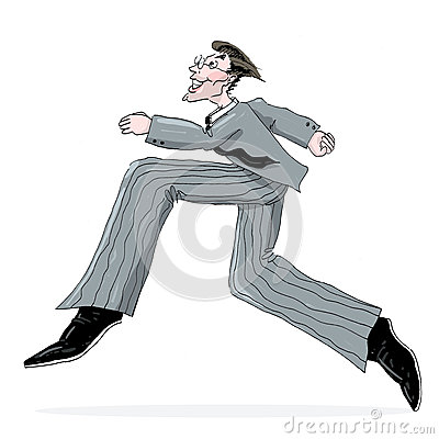 Business Man Running Illustration