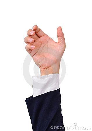 Business man s hand to hold various objects