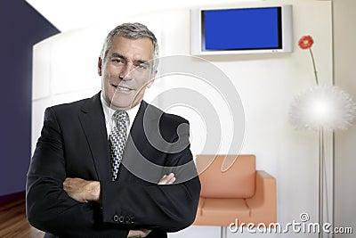 Business man senior interior office modern design
