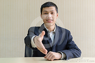 Business man shake hands