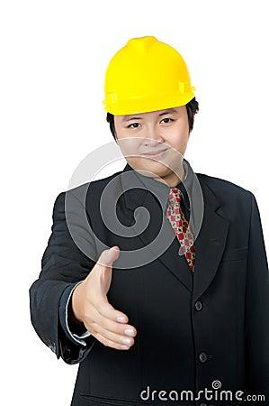 Business Man Shaking Hand