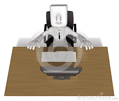 Business Man sitting at a desk