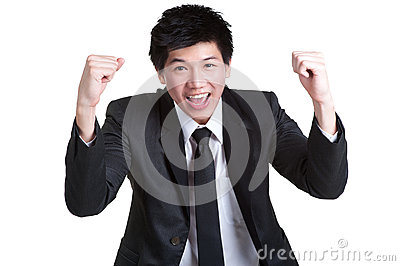 Business man smart happy sucess suit