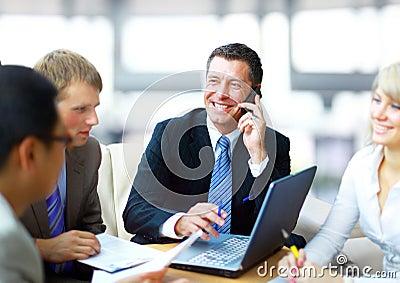 Business man speaking