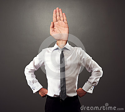 Business man with stop gesture
