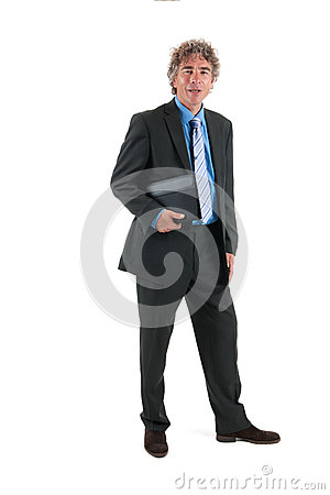 Business man in studio