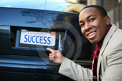 Business Man Success (Fictional License Plate)