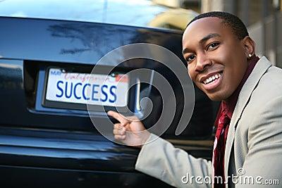 Business Man Success (Fictional License Plate)