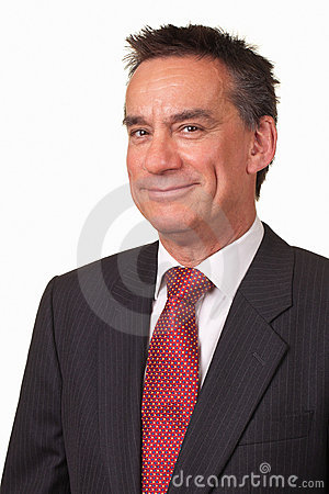Business Man in Suit with Cheeky Grin