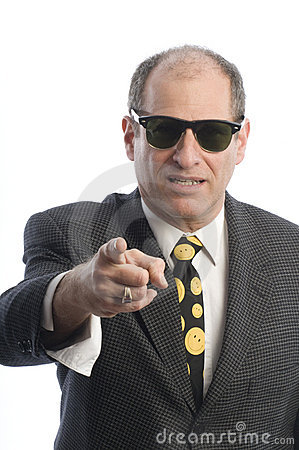 Business man sunglasses portrait angry tough