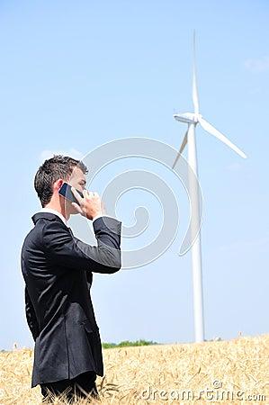 Business man talk at phone