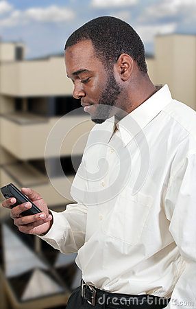 Business Man Texting