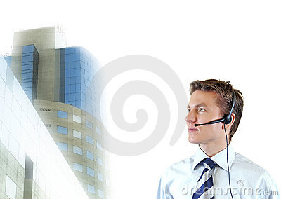 Business man trying to impose , young lawyer with