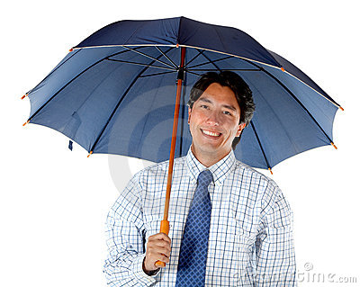 Business Man With An Umbrella Stock Image - Image: 13188631