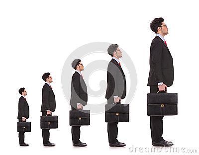 Business man waiting in line
