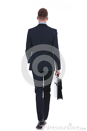 Free Business Man Walks Away With Suitcase Royalty Free Stock Photography - 31846137