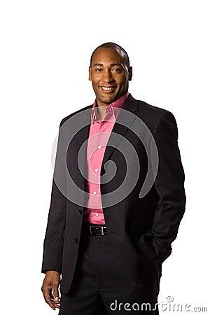 Business man wearing suit.