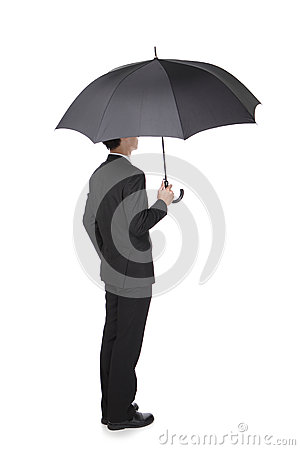 Free Business Man With An Umbrella Stock Images - 31599444