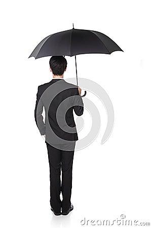 Free Business Man With An Umbrella Stock Photos - 31866883