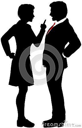Business people fight argue talk disagreement