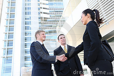 Business Man and Woman Team