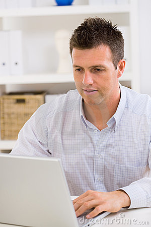 Free Business Man Working At Home Stock Images - 7764074