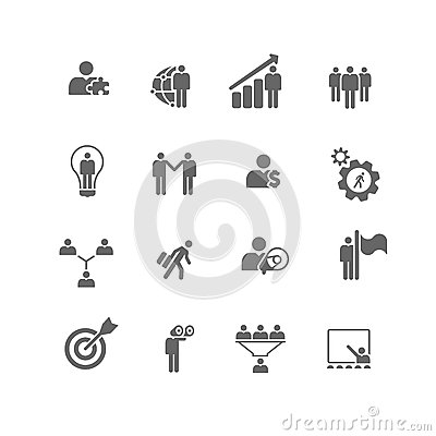 Business Management Metaphor Icons