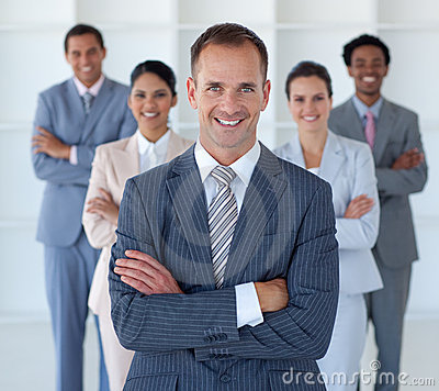 Free Business Manager In Office Leading His Team Stock Photos - 11371693