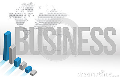 Business map chart background illustration