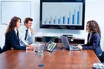 Business meeting at board room