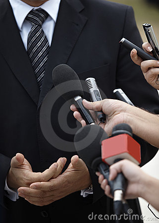 Free Business Meeting Conference Journalism Microphones Stock Image - 10896011