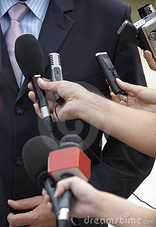 Free Business Meeting Conference Journalism Microphones Stock Photos - 11043263