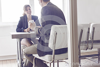 Business meeting or job interview Stock Photo