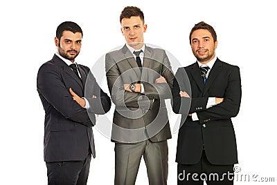 Business men with hands crossed