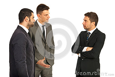 Business men having conversation