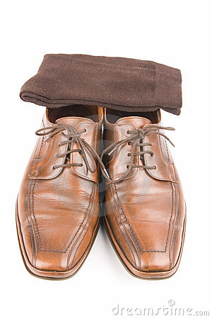 Business men luxury leather shoes