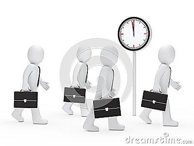 Business men run time