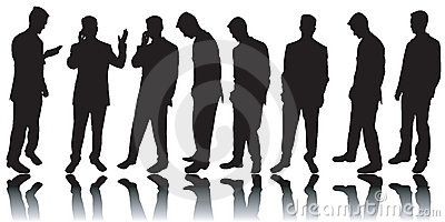 Business men silhouettes