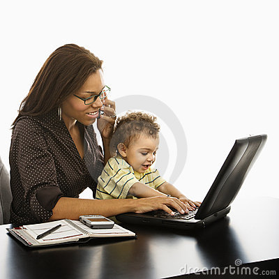 Free Business Mom With Baby. Stock Images - 3422754