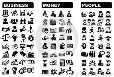 Business, money and people icon