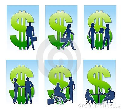 Business Money Silhouettes