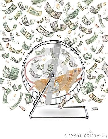 Free Business Money Wheel Gig Economy Waste Time Stock Images - 13920294