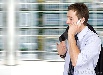 Business on the move - cell phone