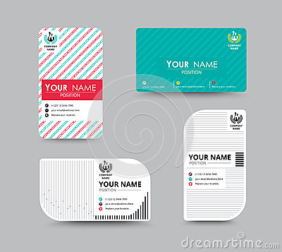 Business Name Card Design For Corporation Card Template Vector – Sample of Name Card