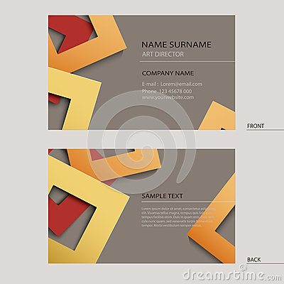 Business Name Card Template Stock Image - Image: 37936311