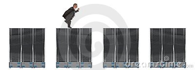 Business Network Of Servers
