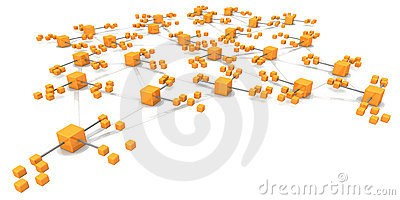 Business network structure concept